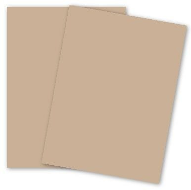 Earthchoice Tan 8-1/2-x-11 (Bristol) Cardstock Paper 250-pk - 147 GSM (67lb VB) PaperPapers Letter size Econo Card Stock/Vellum Bristol Paper - Business, Designers, Professional and DIY