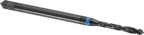 #4-40 UNC, 2 Flute, Oxide Finish Cobalt Medium Spiral Flute Tap pack of 3