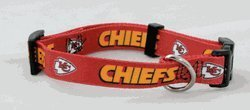 Kansas City Chiefs Large Pet Dog Collar (Large)