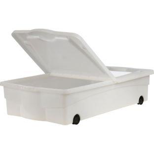 roues et couvercle en plastique 32 l bote de rangement sous lit taille 19 - Rangement Sous Lit