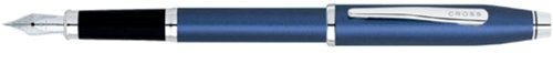 (Cross Century II, Royal Blue, Fountain Pen, with Chrome Plated Appointments and Stainless Steel Nib Medium (419-24MS))