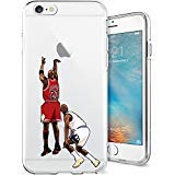 iPhone 6/6s Case, Chrry Cases Ultra Slim [Crystal Clear] [Basketball Player] Soft TPU Case Cover for Apple iPhone 6/6s (4.7) - Michael