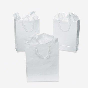 Small White Gift Bags, 1 dozen