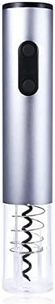 GKXAZ Sacacorchos de Vino eléctrico con sacacorchos de sacacorchos automáticos (Color : Silver)