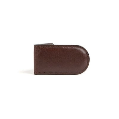 Old Leather Money Clip Color: Amber by Bosca