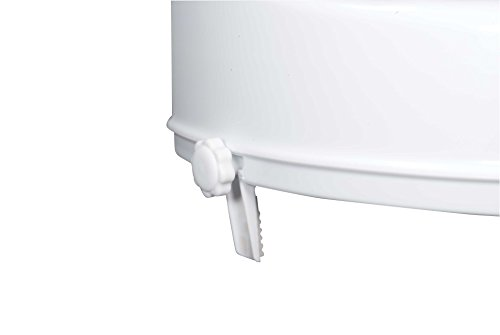 Drive Medical Raised Toilet Seat with Lock and Lid, Standard Seat, 2'' by Drive Medical (Image #2)