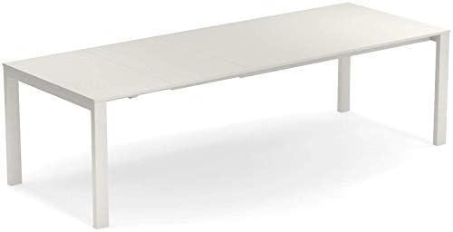 EMU ROUND TABLE Extensible en acier cm. 160 + 54 + 54 blanc ...