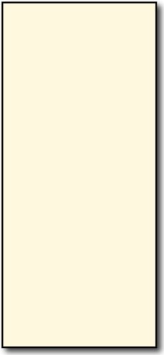 4'' x 9'' Cream Rack Cards Paper - 250 Cards - 65lb Cover Cardstock by Desktop Publishing Supplies, Inc.