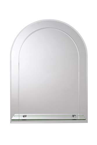 Croydex Fairfield Arch Mirror Shelf with Hang N Lock Fitting System, 600 -