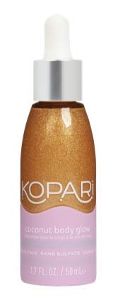 Kopari Coconut Body Glow - Natural Shimmering Moisturizer for Skin and Hair With 100% Organic Coconut Oil, Non GMO, Vegan, Cruelty Free, Paraben Free, Phthalate Free and Sulfate Free, 3.4 Oz