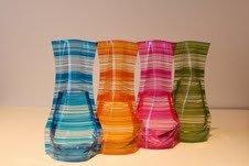 Plastic Foldable Flower Vase 4-pieces (Various Colors) (Foldable Vase)
