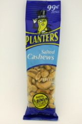 Planters Salted Cashew Tube 18ct, 1.5oz