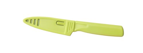 Kuhn Rikon 4-Inch Nonstick Colori Paring Knife, Green (Green Paring Knife)