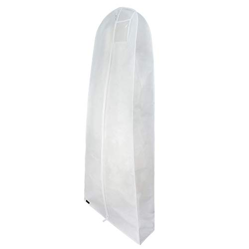 HANGERWORLD White 72inch Breathable Multiple Garment Wedding Gown Dress Garment Cover Protector Bag