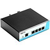 Koolertron 100M 5-Port Industrial High-power POE Switch ther