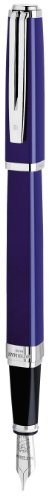 Waterman Exception Slim Blue, Fountain Pen with Medium solid gold nib and Blue ink (S0637100)
