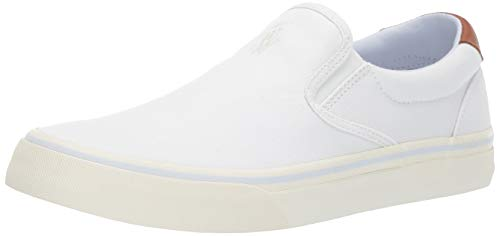 Polo Ralph Lauren Men's Thompson Sneaker,White, 10 D US (Us Polo By Ralph Lauren)
