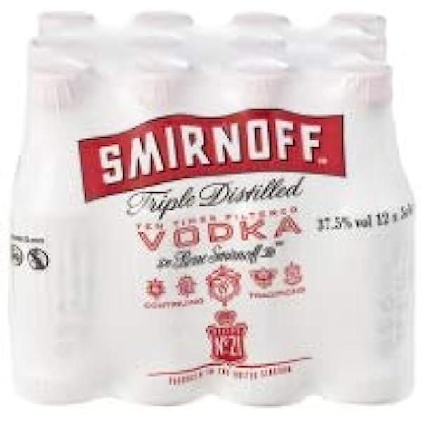 Smirnoff Vodka Miniatures 5 cl (Pack of 12): Amazon.es ...