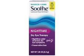 Bausch + Lomb Soothe Lubricant Eye Ointment, Night Time, 1/8 oz ()