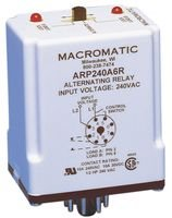 Macromatic ARP120A2R Relay; E-Mech; Alternating; DPDT; Cur-Rtg 10A; Ctrl-V 120AC; Vol-Rtg 240/30AC/DC