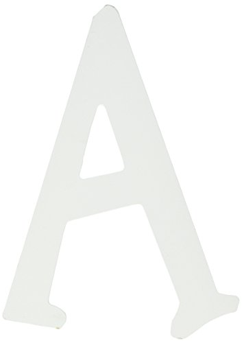 Wooden For Nursery White Letters (My Baby Sam Wall Hanger Letter A, Solid White)