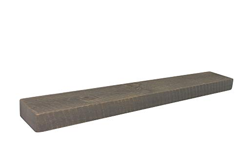 - Joel's Antiques, Floating Mantel, Shelf, Mountable, Rustic, Solid Wood, Pine, Weathered Wood, Gray, (3