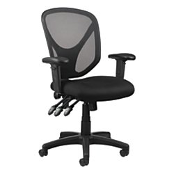 Realspace(R) MFTC 200 Multifunction Ergonomic Super Task Chair, Black by TUL