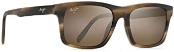 Maui Jim Men's Waipio Valley Rectangular Sunglasses