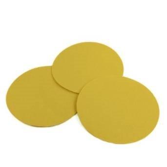 5 Inch 60 Grit Gold Hook and Loop Sanding Discs, 50 Pack