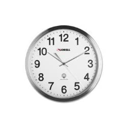 Lorell 61001 Atomic Wall Clock, 11-4/5 in., Chrome