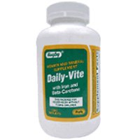 Daily - Vite Vitamins Tablets with Iron and Beta Carotene -