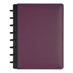 TUL(TM) Custom Note-Taking System Discbound Notebook, Junior Size, Leather Cover, Purple