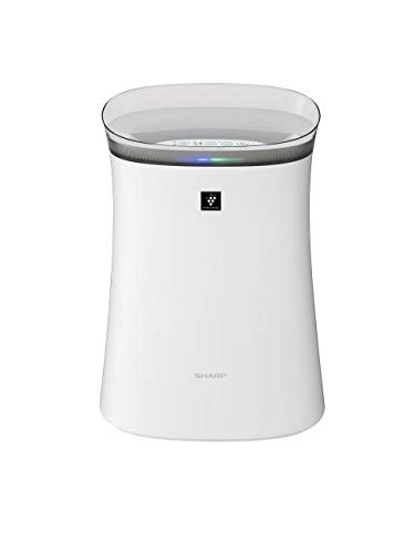 Sharp Air Purifier for Homes & Offices | Dual Purification - ACTIVE (Plasmacluster Technology) & PASSIVE FILTERS (True HEPA H14+Carbon+Pre-Filter) | JAPANESE TECHNOLOGY l Captures 99.97% of Impurities | Model: FP-F40E-W | White