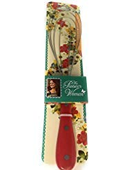 The Pioneer Woman Cowboy Red Handle Flat Metal Whisk ()