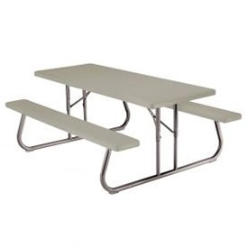 Lifetime Fold-Away Picnic Table 72″ X 30″ – Putty, 10/Pk – Lot of 10