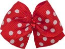 """Puppy Kisses """"Hot to Trot"""" Dog Hair Bow – Metal barrette closure, Made with SWAROVSKI ELEMENTS, My Pet Supplies"""