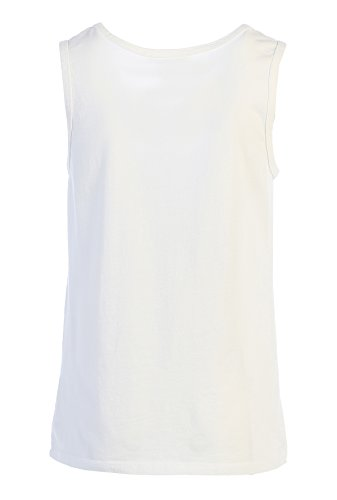 LAFSQ Unisex Plain Classic Style Premium Fine Jersey T-Shirt Tank Top, Made In USA (White, S) by LAFSQ (Image #1)