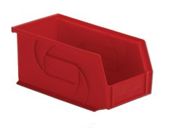 Strong Hold Industrial Bins, 10-7/8 inch x 5-1/2 inch x 5 inch, Red, Qty 6 by Strong Hold