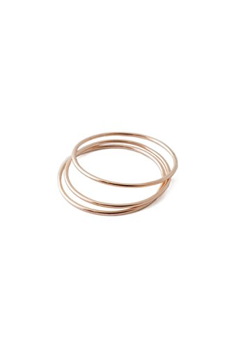 Gold Trio Set Ring - HONEYCAT Super Skinny Smooth Stacking Rings Trio Set in Gold, Rose Gold, or Silver | Minimalist, Delicate Jewelry (Smooth/RG/7)