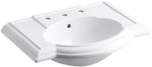 KOHLER K-2295-8-0 Devonshire Bathroom Sink Basin, White