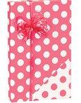 Reversible Polka Dot Coral Pink & White Gift