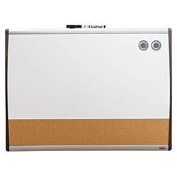 Quartet Magnetic Dry Erase Board & Cork Board, 17 x 23