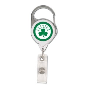 WinCraft Boston Celtics Retractable Premium Badge Holder (Boston Clip Celtics)