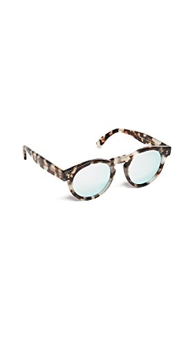 Illesteva Women's Leonard Mirrored Sunglasses, Tortoise/Silver, One - Leonard By Illesteva Sunglasses
