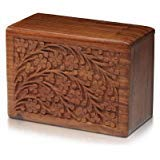 Tree of Life Hand-Carved Rosewood Urn Box - Small by Bogati