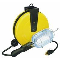 Alert Safety Light Products Incandescent Retractable Cord Reel Work Light (5000A-30G)