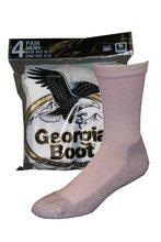 Georgia Cotton Crew Socks (4-Pack), White, Medium ()