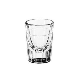 LIB5127 - Whiskey Service Drinking Glasses, Fluted Lined Shot Glass, 1-1/2 Oz, 2-7/8quot;h