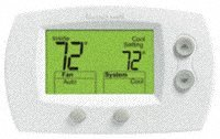 Honeywell 2-Stage Non-Programmable Digital Thermostat model TH5220D1029 by Honeywell