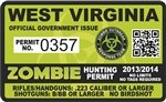 Yellow Dog West Virginia WV Zombie Hunting Permit - Hunter Response Biohazard Team Unit - 4